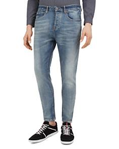 The Kooples - Zipper Slim Fit Jeans in Light Blue