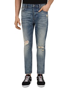 The Kooples - Blue Slim Fit Jeans in Blue Denim