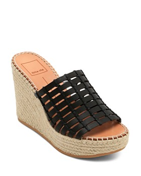 Dolce Vita - Women's Prue Leather Wedge Espadrille Sandals