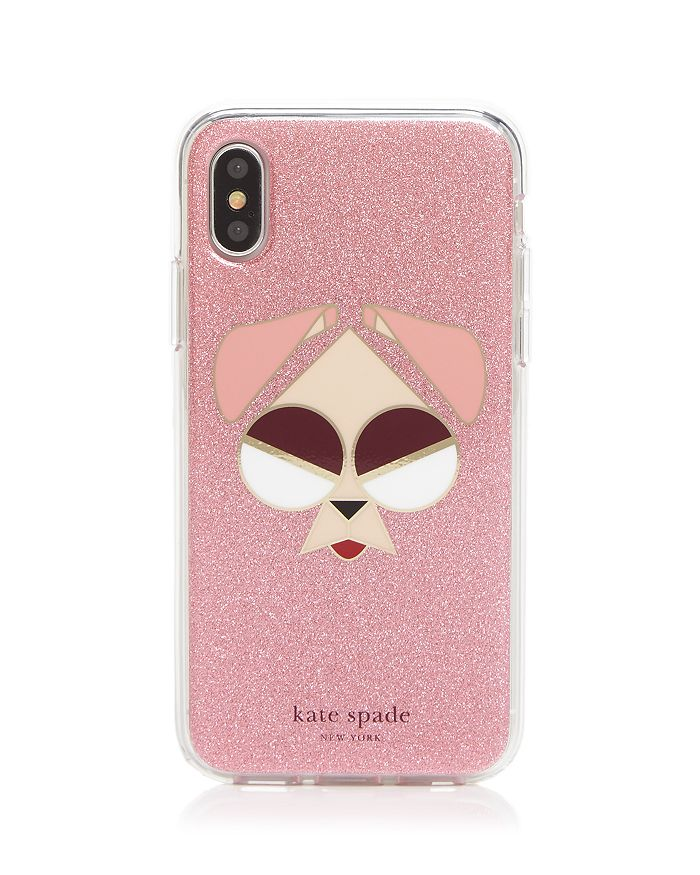 kate spade new york - Glitter Mod Dog iPhone X/XS and X Max Case