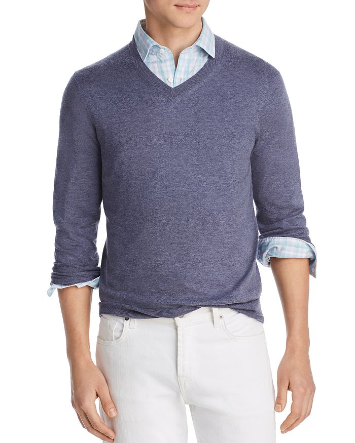 The Men's Store at Bloomingdale's - V-Neck Cotton-Cashmere Sweater - 100% Exclusive