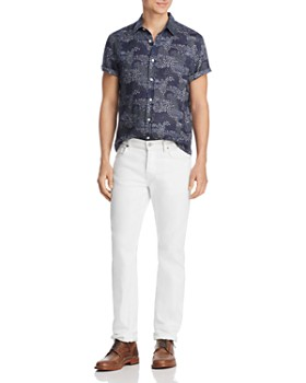 The Men's Store at Bloomingdale's - Short-Sleeve Floral-Print Classic Fit Shirt - 100% Exclusive