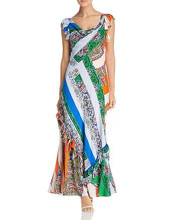 Tory Burch - Patchwork Printed Maxi Dress
