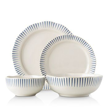 Juliska - Sitio Stripe Indigo 4-Piece Place Setting