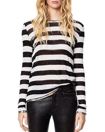 Zadig & Voltaire - Willy Striped Foil-Trim Tee
