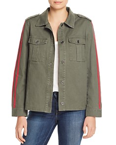 Honey Punch - Track Stripe Military Jacket