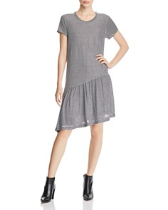 Wilt - Striped Asymmetric T-Shirt Dress