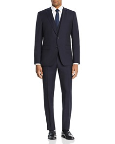 BOSS Hugo Boss - Huge/Genuis Tonal Micro-Checked 3-Piece Slim Fit Suit