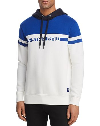 G-STAR RAW - Core Color-Block Graphic Hooded Sweatshirt