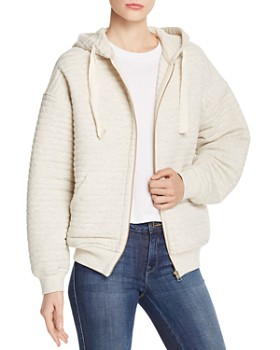 ATM Anthony Thomas Melillo - Quilted Zip-Front Hoodie