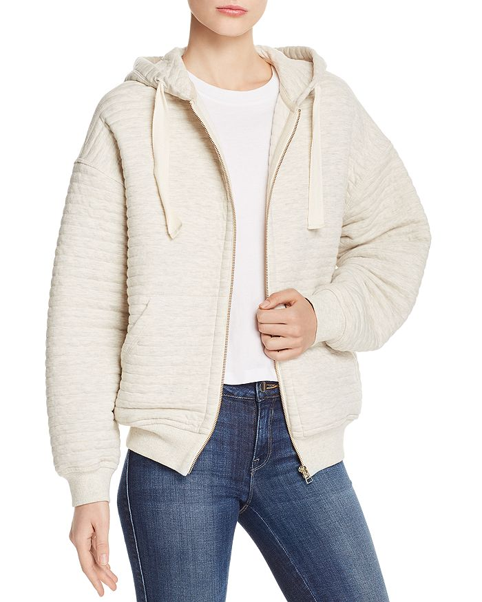 Atm Anthony Thomas Melillo QUILTED ZIP-FRONT HOODIE