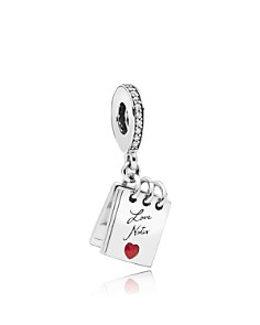 PANDORA - Sterling Silver & Cubic Zirconia Love Notes Charm