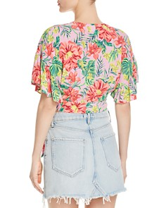 Lost and Wander - Mai Tai Floral Print Wrap Top
