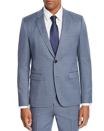 HUGO - Astian Micro-Birdseye Slim Fit Suit Jacket
