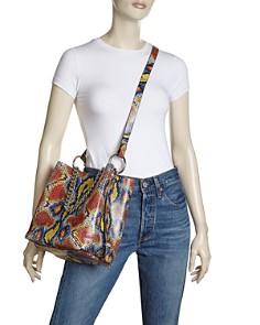 Rebecca Minkoff - Medium Multi-Colored Python Print Bucket Bag