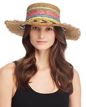 Echo - Jubilee Embroidered Boater Hat dcd2ac5de6b