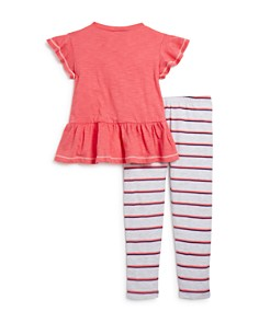 Splendid - Girls' Peplum Top & Striped Leggings Set - Little Kid