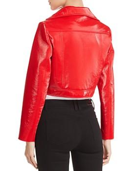 1c50fe8b21e ... Elie Tahari - Gigi Cropped Faux Patent Leather Jacket
