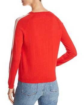 Majestic Filatures - Cashmere Stripe-Sleeve Sweater