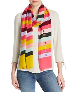 kate spade new york - Rainbow-Stripe Oblong Scarf