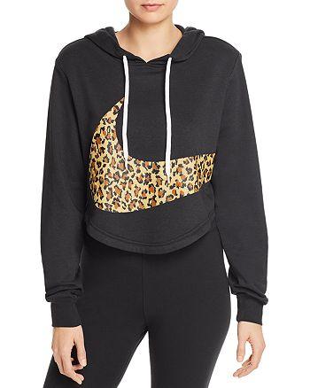 amazing selection shop san francisco Nike Leopard Logo Cropped Sweatshirt | Bloomingdale's