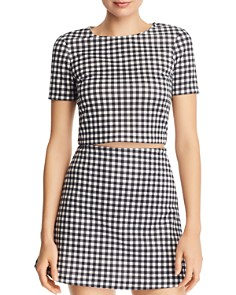 AQUA - Gingham Cropped Top - 100% Exclusive