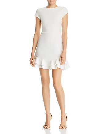AQUA - Textured Ruffle-Hem Dress - 100% Exclusive