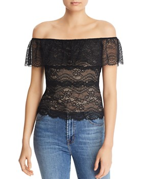 5d3ab91e528c6 GUESS - Marabell Off-the-Shoulder Lace Top ...