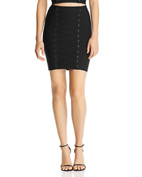 GUESS - Mirage Ottoman Lace-Up Skirt