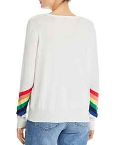 AQUA - Rainbow-Sleeve Sweater - 100% Exclusive