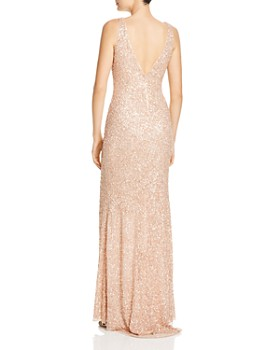 Mac Duggal - Sequined Fishtail Gown