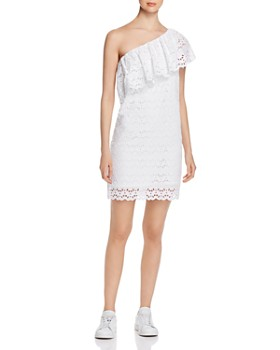 Escada Sport - Eyelet One-Shoulder Dress