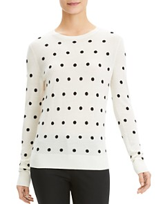 Theory -  Polka-Dot Wool Sweater