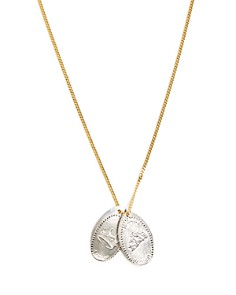 """MIANSAI - """"In Carbs We Trust"""" Penny Chain Pendant Necklace, 11.5"""