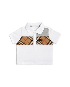 Burberry - Boys' Mini Jeff Vintage Check Panel Polo Shirt - Baby