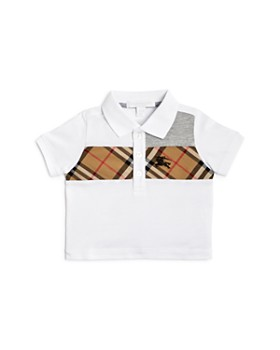 57fcac01b56 Burberry - Boys  Mini Jeff Vintage Check Panel Polo Shirt - Baby