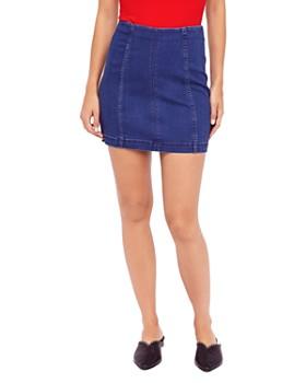 813c76e89a Free People - Modern Femme Denim Mini Skirt ...
