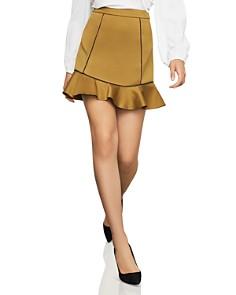 BCBGMAXAZRIA - Piped Satin Mini Skirt