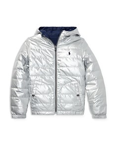 Ralph Lauren - Boys' Reversible Metallic Quilted Down Jacket - Big Kid
