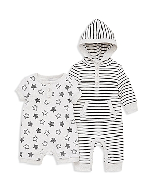 Little Me Boys Star 2Piece Hooded Coverall  Romper Set  Baby