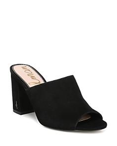 Sam Edelman - Women's Orlie Open-Toe Block-Heel Mules