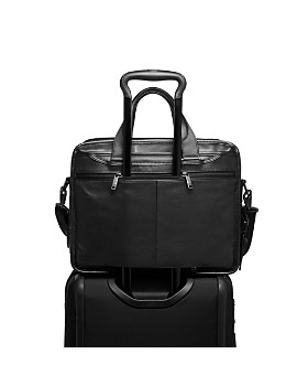 Tumi - Alpha 3 Leather Expandable Organizer Laptop Brief