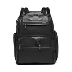 Tumi - Alpha 3 Leather Compact Laptop Brief Pack