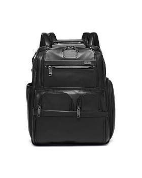 Tumi - Alpha 3 Leather Compact Laptop Brief Pack ... 5cddb20a5cf74