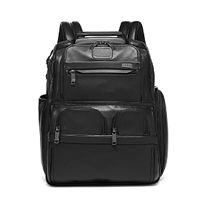 Tumi Alpha 3 Leather Compact Laptop Brief Pack-Home