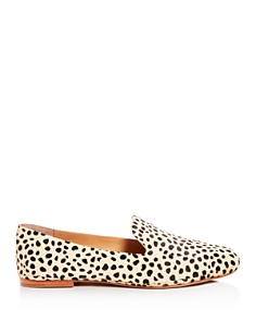 Dolce Vita - Women's Wynter Leopard Print Calf Hair Smoking Slippers