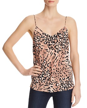 PAIGE - Cicely Printed-Silk Camisole Top