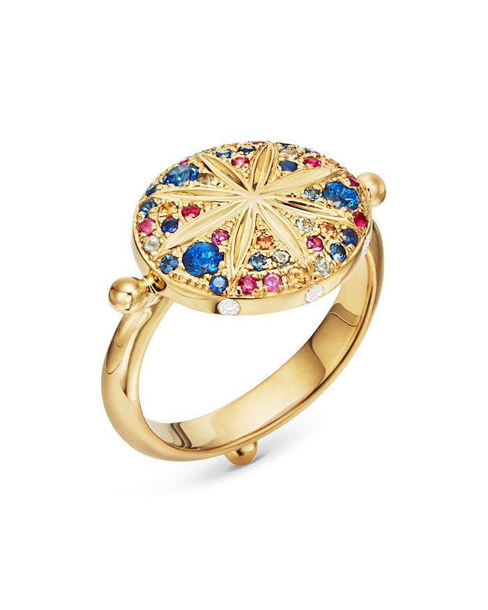 Temple St. Clair 18K YELLOW GOLD CELESTIAL DIAMOND, MULTICOLORED SAPPHIRE & RUBY PAVE SORCERER RING