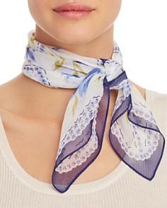 Echo - Floral-Print Silk Scarf