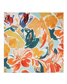 Echo - Watercolor-Floral Silk Scarf
